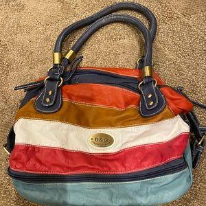 Dolce and Gabbana striped purse